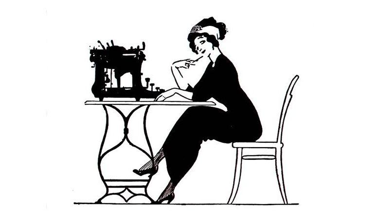 Motiv aus einem Plakat für Mercedes-Schreibmaschinen von Ernst Deutsch Dryden, Berlin, um 1911