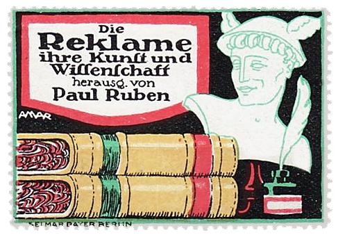 Werbemarke von Léon Lico Amar (1887-?), Farblithografie, gedruckt bei Selmar Bayer in Berlin