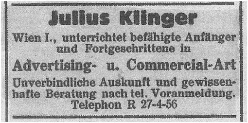 Annonce in der Zionistischen Rundschau vom 27. Mai 1938