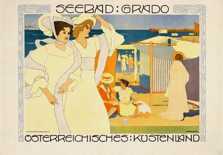 Josef Maria Auchentaller, Seebad Grado, Plakat, 1906, Wien Museum