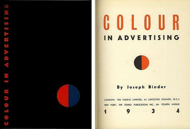"""Buchcover und Titelblatt von """"Colour in Advertising"""""""