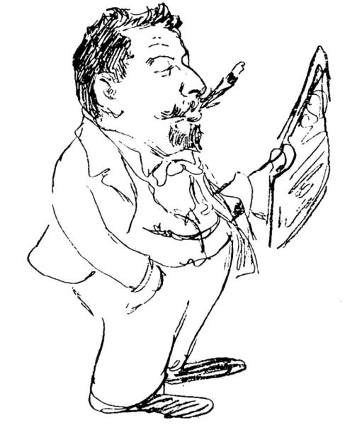 Ernst Growald, Karikatur von Knut Hansen, 1921
