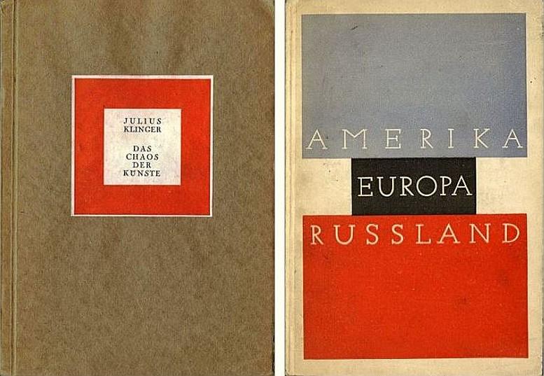 Buchcover, 1925 Buchcover, 1927