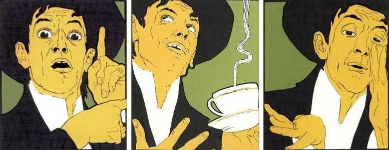 Details aus einem Plakat für Meinl-Kaffee, 1899