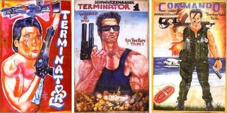 Arnold Schwarzenegger auf handgemalten Filmplakaten aus Ghana