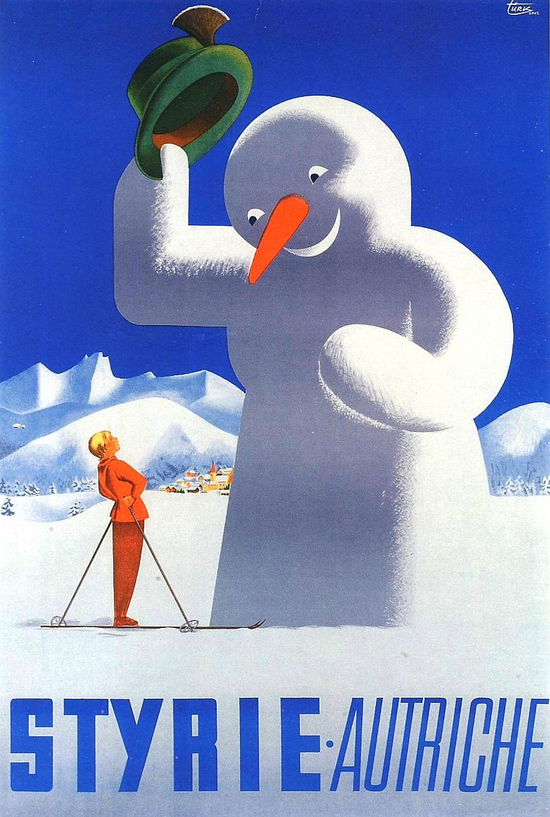 Ein Klassiker österreichischer Tourismuswerbung von Herbert W. Türk, 1951