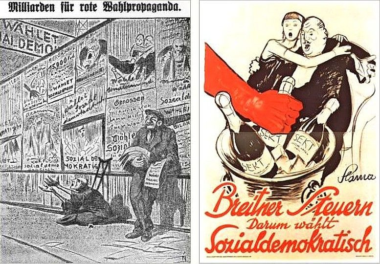 Aus einer christlichsozialen Wahlzeitung, 1927 Entwurf: Victor Th. Slama, 1927