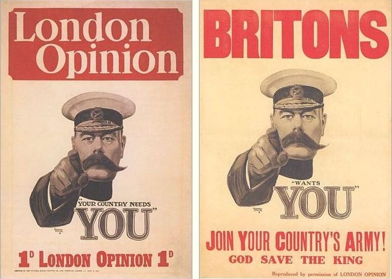 News-stand Poster, 1914 Rekrutierungsplakat, 1914