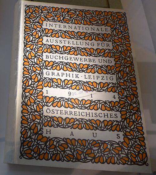 Umschlag des österreichischen Kataloges für die Bugra nach einem Entwurf von Rudolf Junk