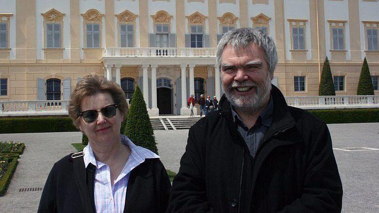 René Grohnert mit Barbara Denscher (Foto: red.)