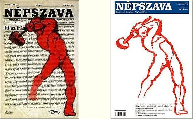 Links: Plakat, 1912 / Rechts:Titelblatt, 2011