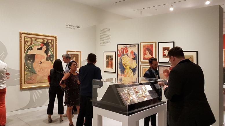 Blick in die Räume der Mucha-Ausstellung